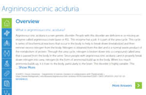 Argininosuccinic Aciduria | ThinkGenetic, Inc