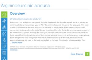 Argininosuccinic Aciduria | ThinkGenetic, Inc