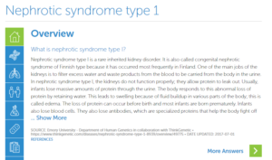Nephrotic Syndrome Type 1 | ThinkGenetic, Inc