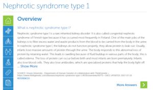 Nephrotic Syndrome Type 1 | ThinkGenetic, Inc