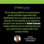 ThinkGenetic Boosts Kabuki Syndrome Awareness by Recognizing Advocacy Partnership with All Things Kabuki