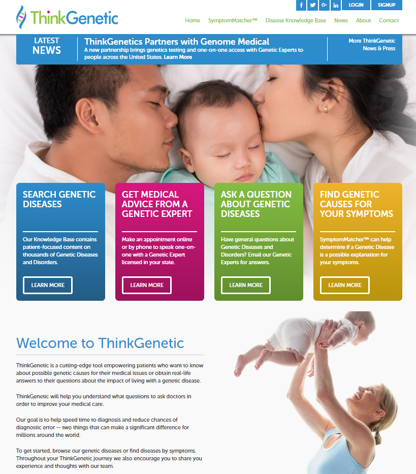 ThinkGenetic Homepage - Genome Medical Partnership