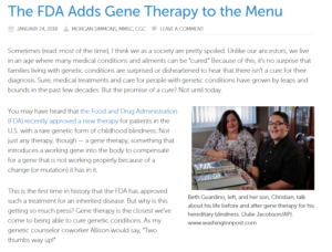 FDA - Gene Therapy - Morgan Simmons - ThinkGenetic